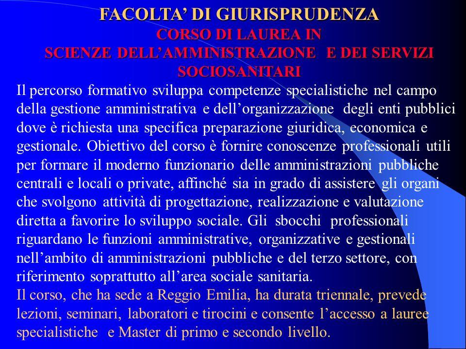 FACOLTA' DI GIURISPRUDENZA
