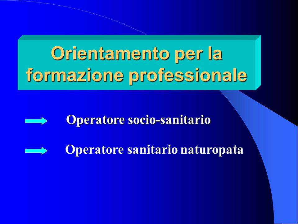 Orientamento per la formazione professionale