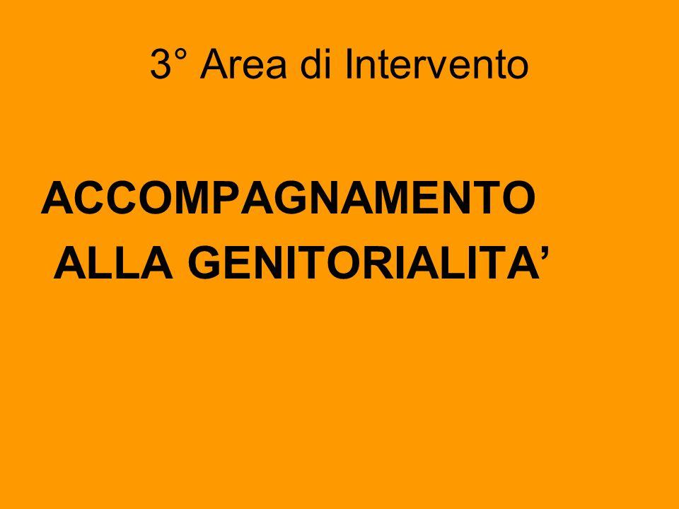 3° Area di Intervento ACCOMPAGNAMENTO ALLA GENITORIALITA'