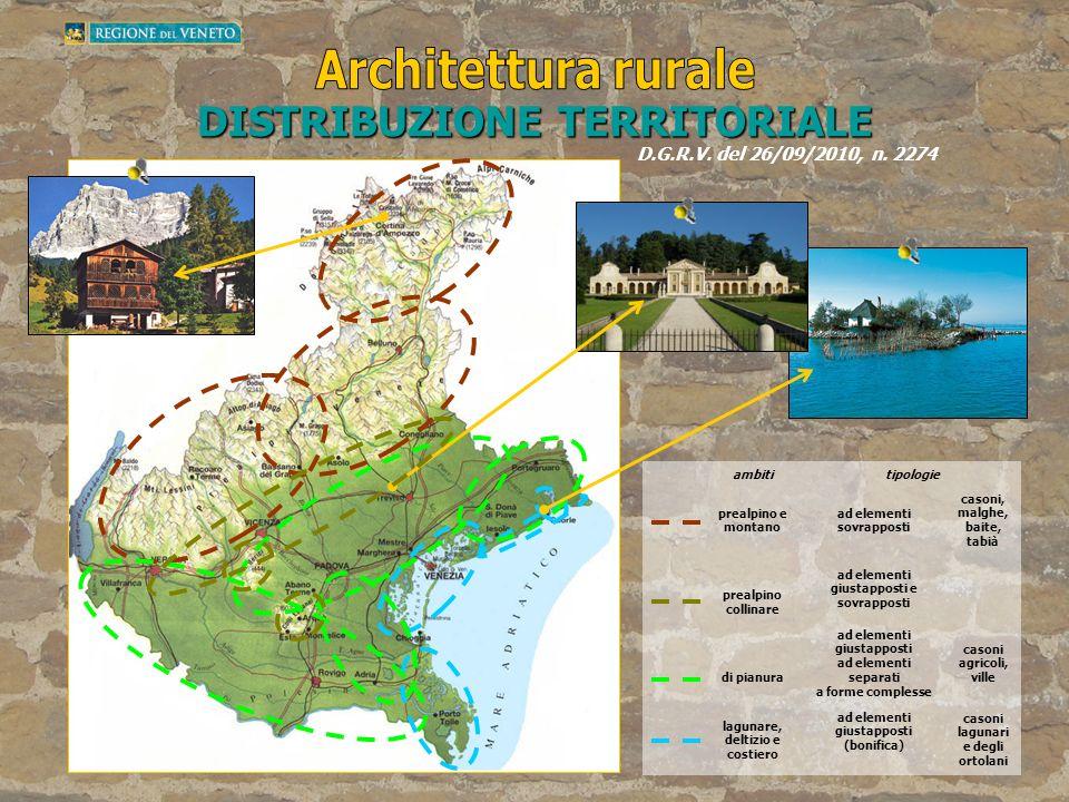 Architettura rurale DISTRIBUZIONE TERRITORIALE