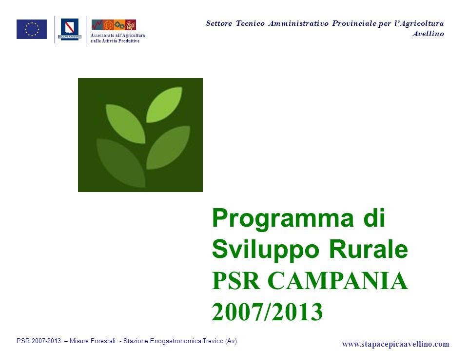 Programma di Sviluppo Rurale PSR CAMPANIA 2007/2013