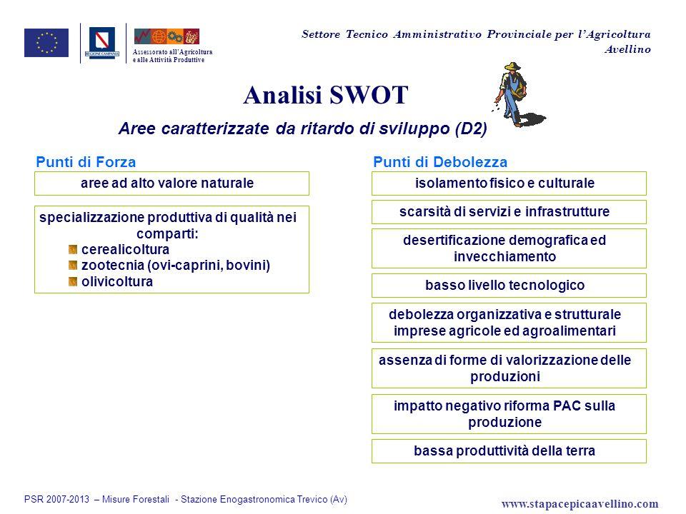 Analisi SWOT Aree caratterizzate da ritardo di sviluppo (D2)