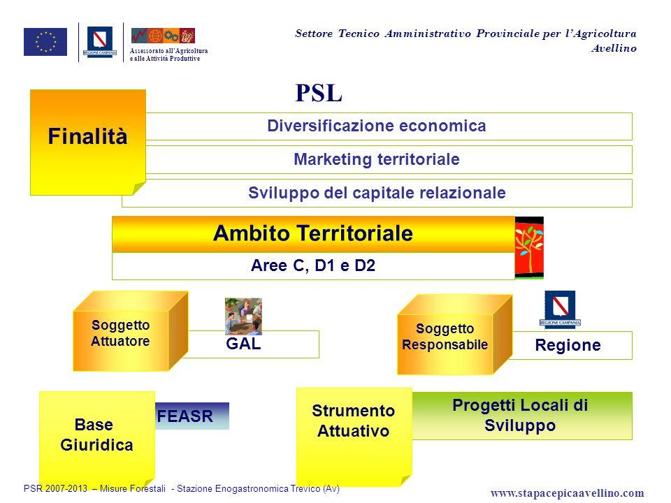 PSL Finalità Ambito Territoriale Diversificazione economica