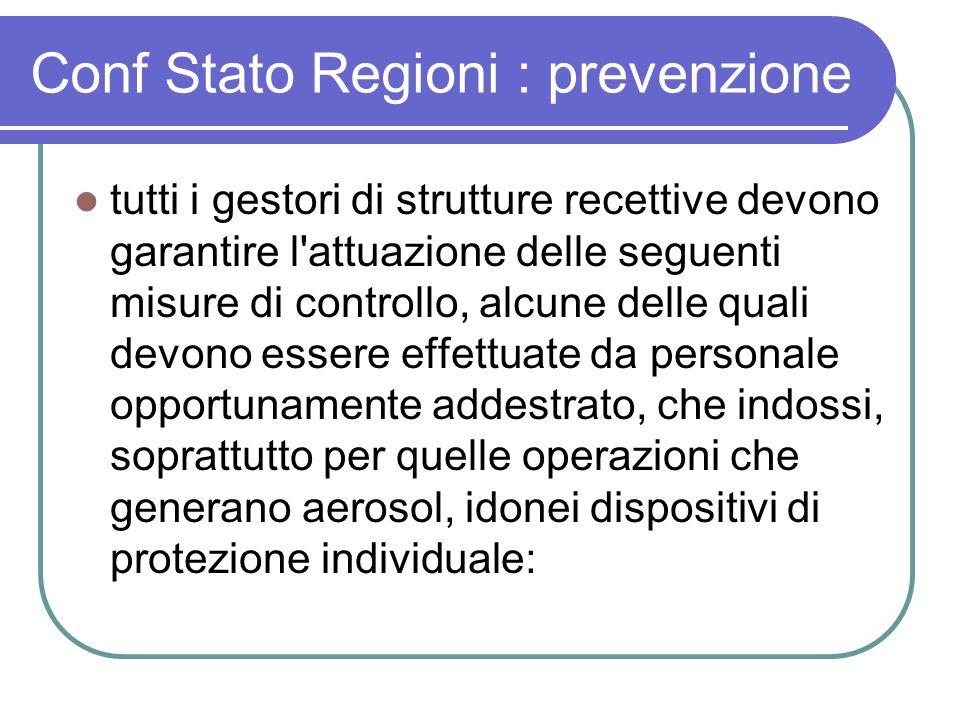 Conf Stato Regioni : prevenzione