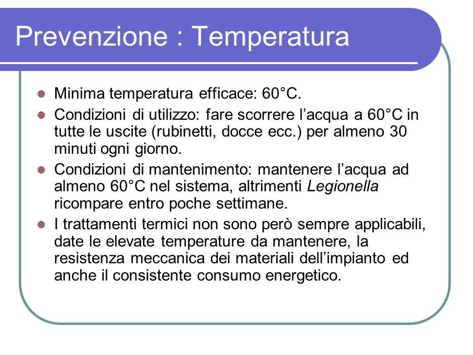 Prevenzione : Temperatura