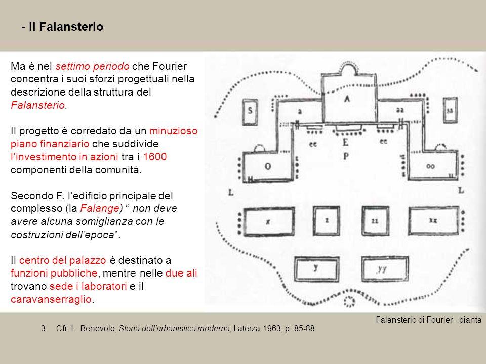 - Il Falansterio Ma è nel settimo periodo che Fourier concentra i suoi sforzi progettuali nella descrizione della struttura del Falansterio.