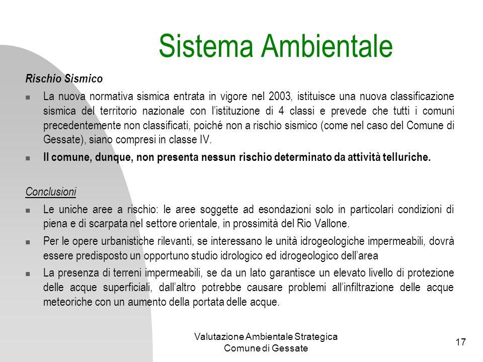 Valutazione Ambientale Strategica Comune di Gessate