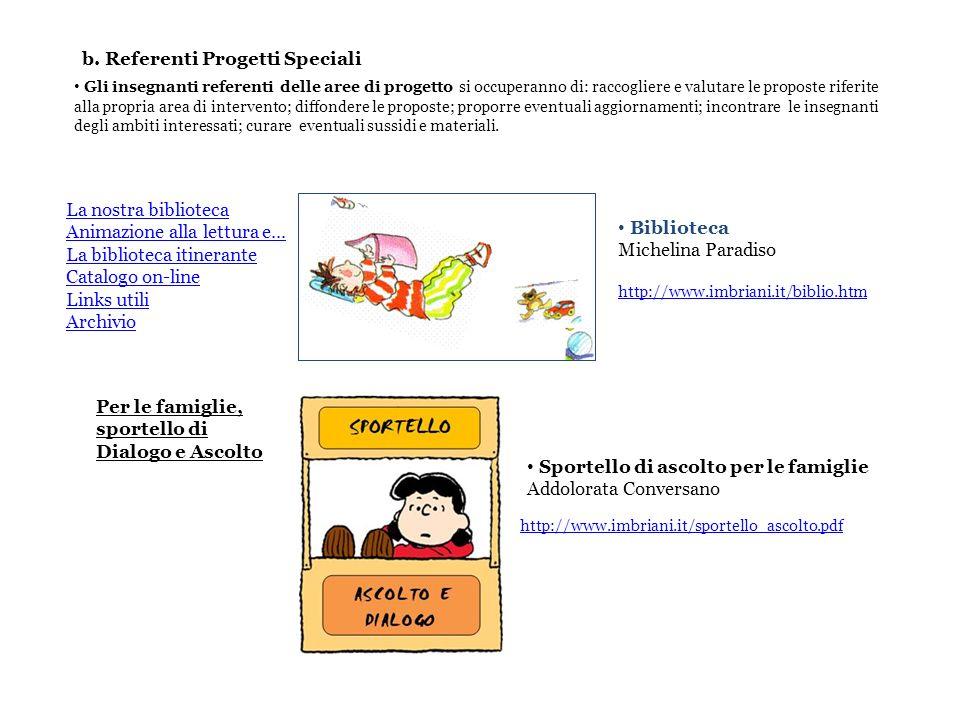 b. Referenti Progetti Speciali