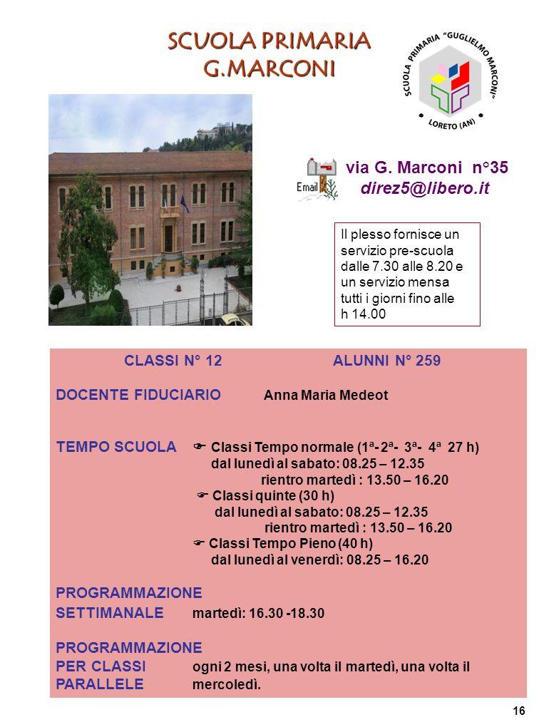 SCUOLA PRIMARIA G.MARCONI