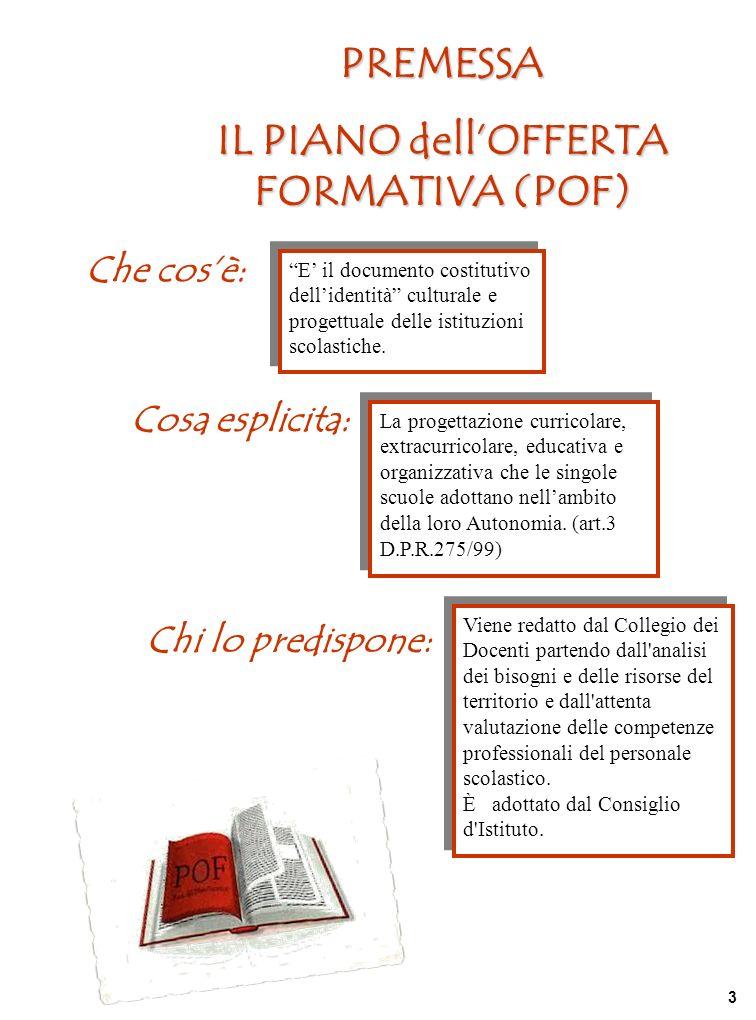 IL PIANO dell'OFFERTA FORMATIVA (POF)