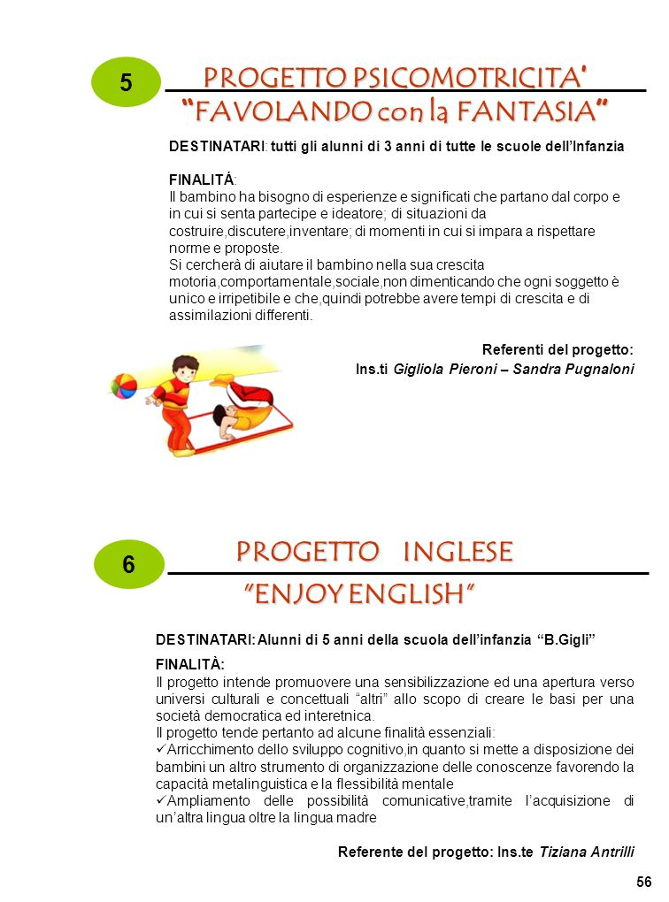 PROGETTO PSICOMOTRICITA' FAVOLANDO con la FANTASIA
