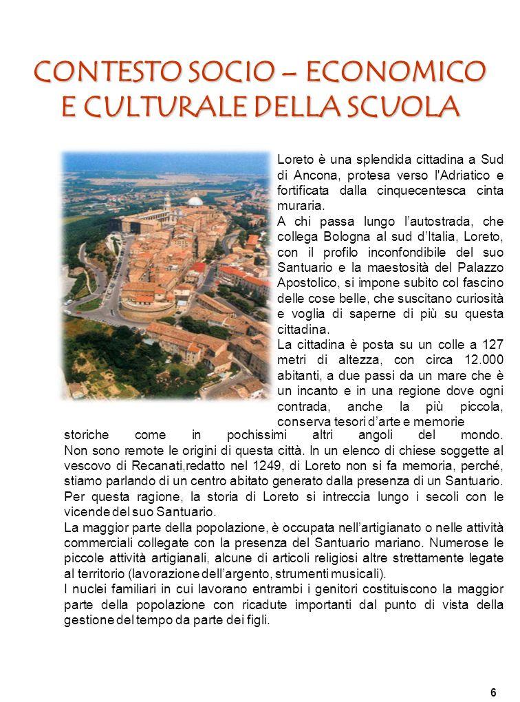 CONTESTO SOCIO – ECONOMICO E CULTURALE DELLA SCUOLA
