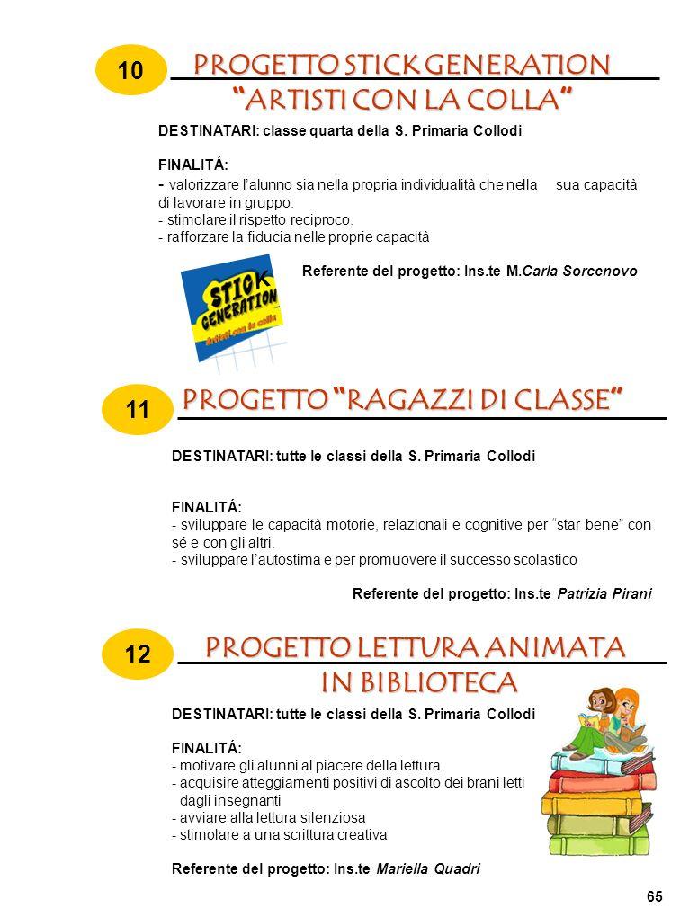 PROGETTO STICK GENERATION ARTISTI CON LA COLLA