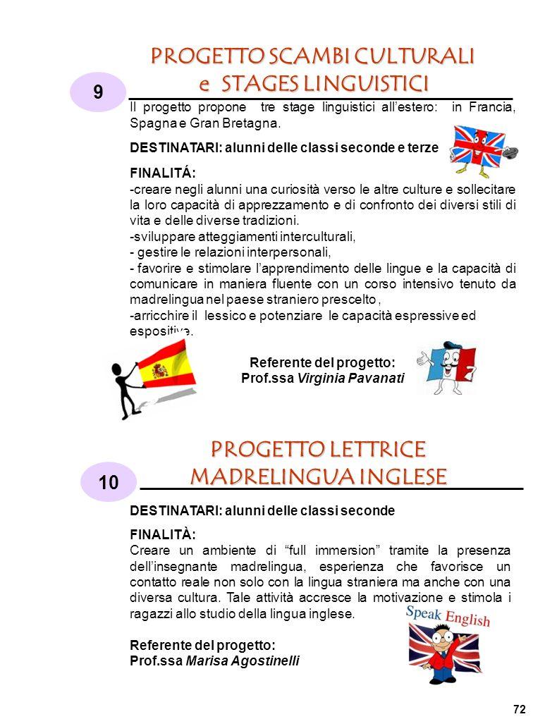 PROGETTO SCAMBI CULTURALI e STAGES LINGUISTICI