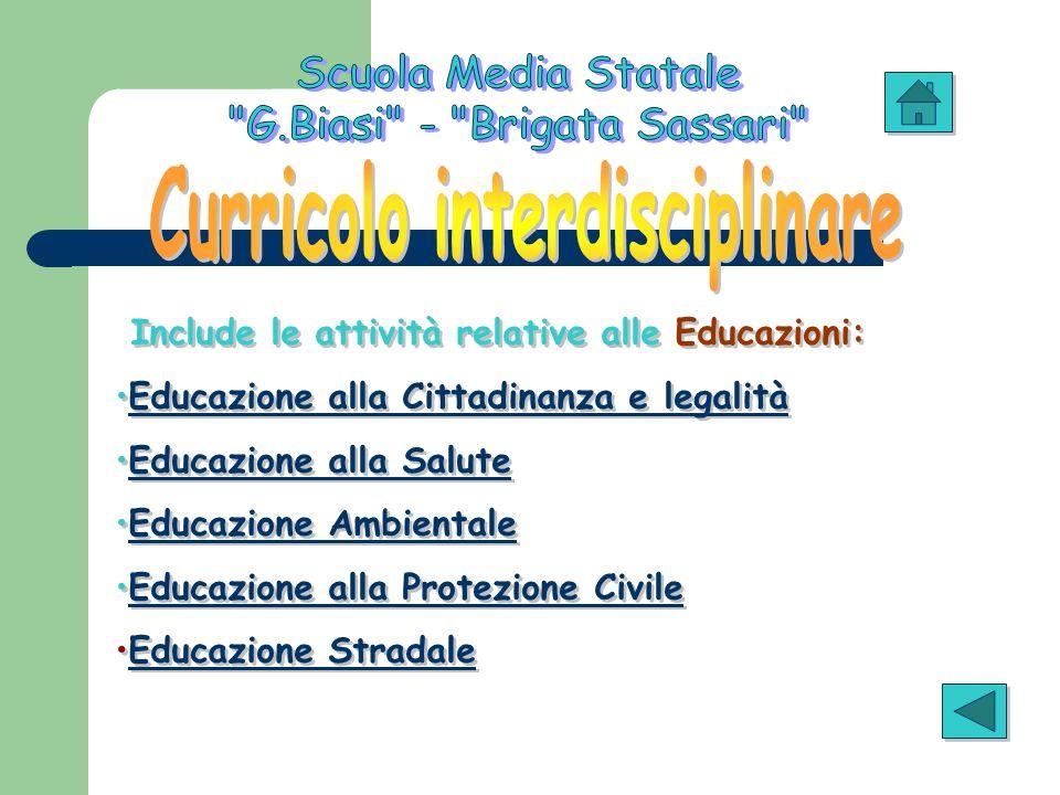 Curricolo interdisciplinare