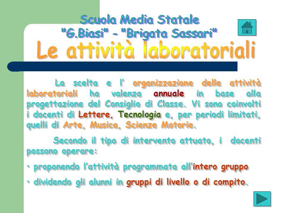 Le attività laboratoriali