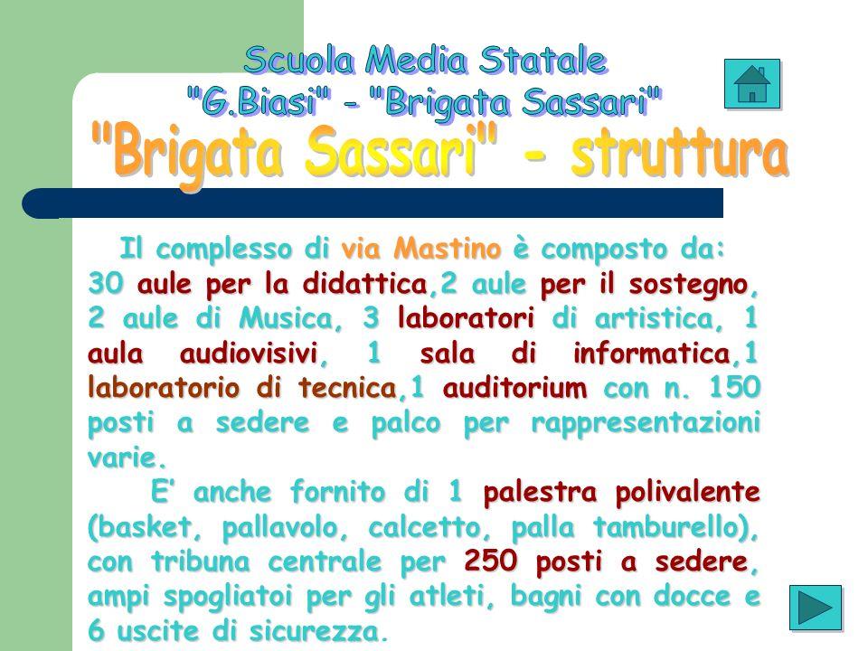 Brigata Sassari - struttura