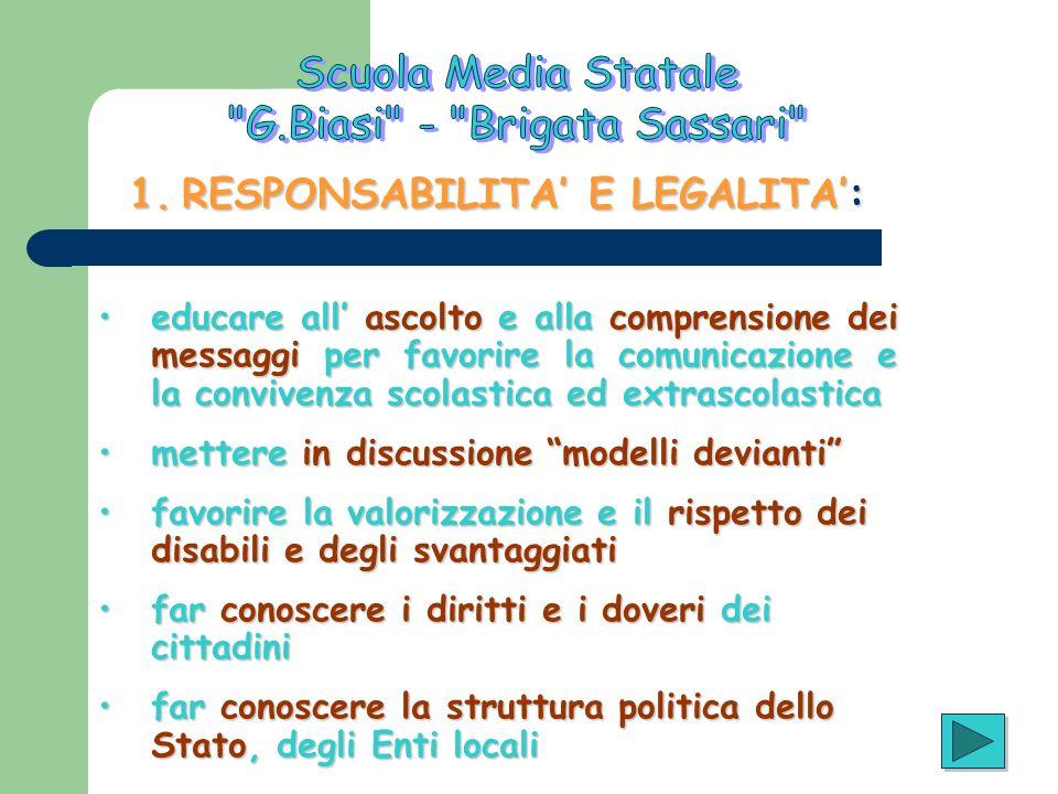 RESPONSABILITA' E LEGALITA':