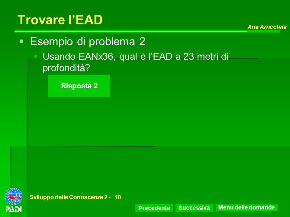 Trovare l'EAD Esempio di problema 2