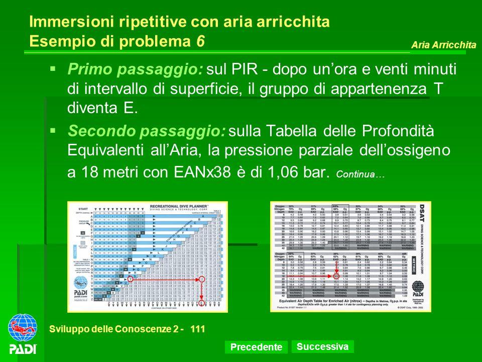 Immersioni ripetitive con aria arricchita Esempio di problema 6