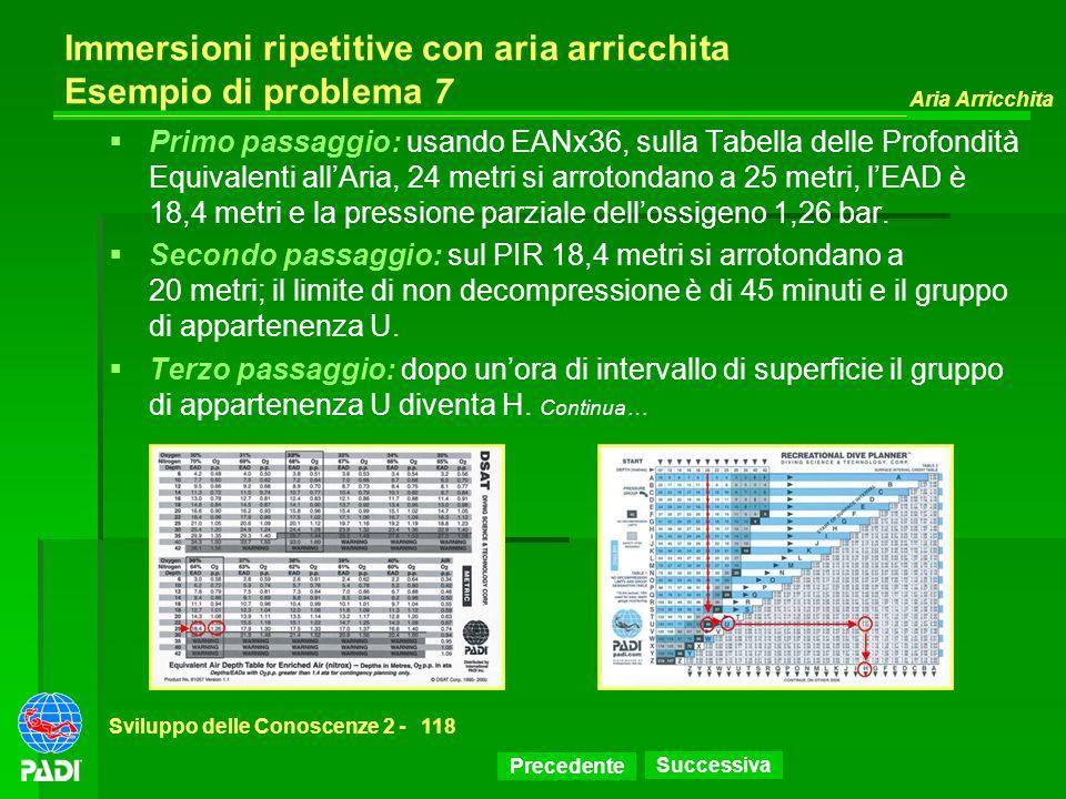 Immersioni ripetitive con aria arricchita Esempio di problema 7