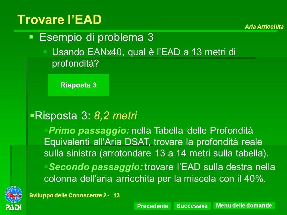 Trovare l'EAD Esempio di problema 3 Risposta 3: 8,2 metri