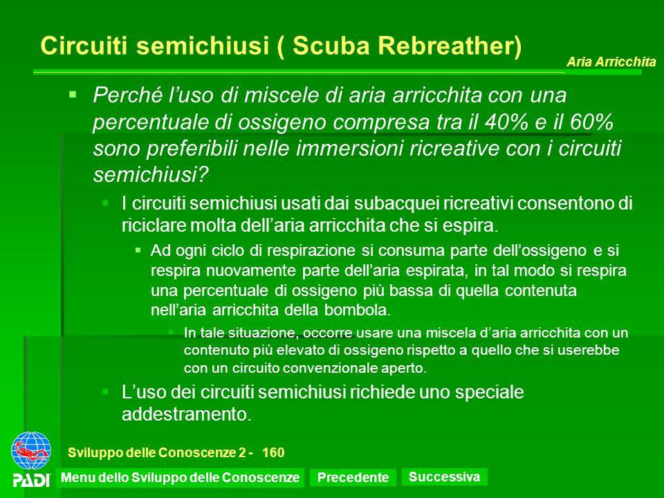 Circuiti semichiusi ( Scuba Rebreather)