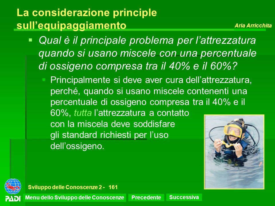 La considerazione principle sull'equipaggiamento