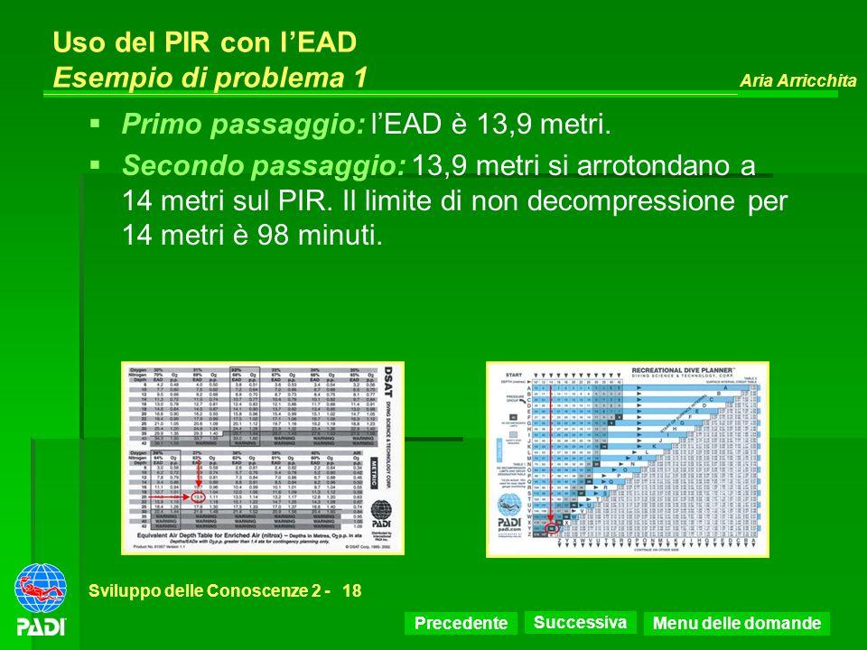 Uso del PIR con l'EAD Esempio di problema 1