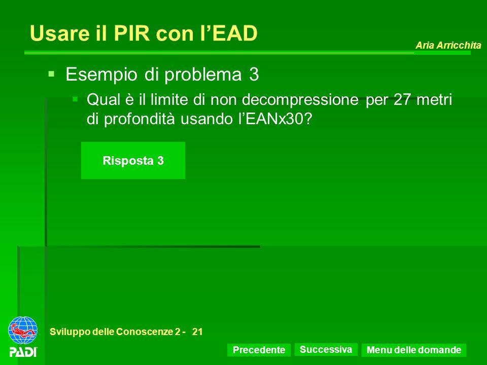 Usare il PIR con l'EAD Esempio di problema 3