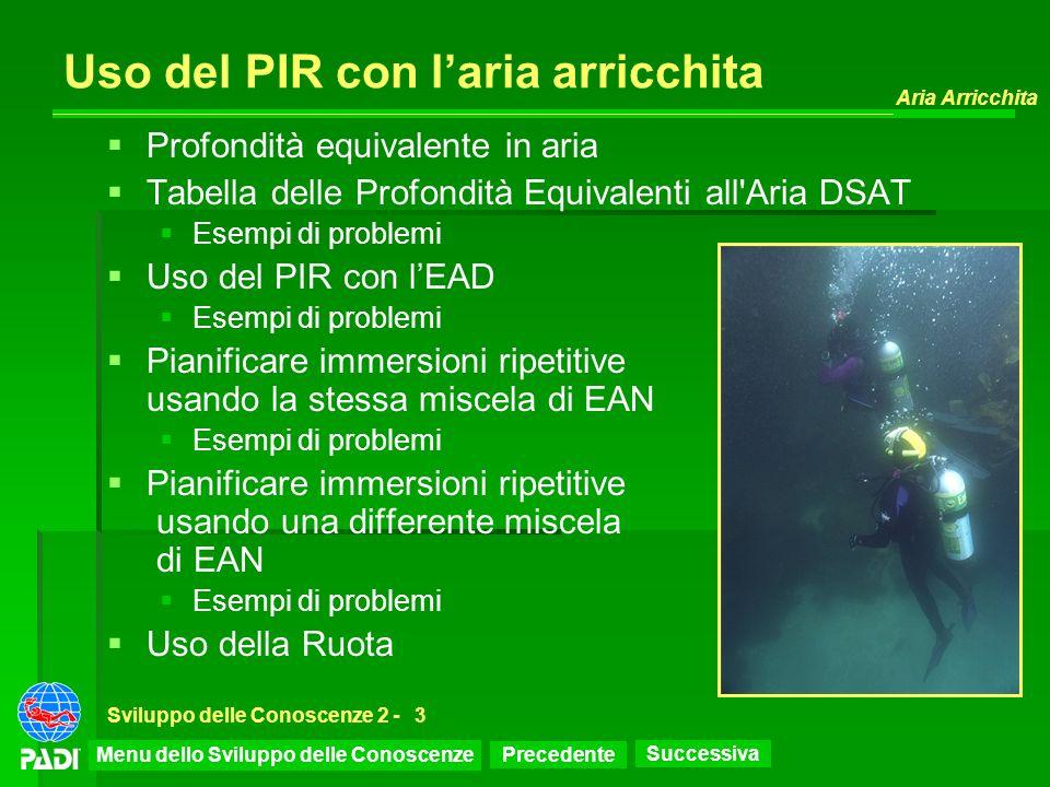Uso del PIR con l'aria arricchita