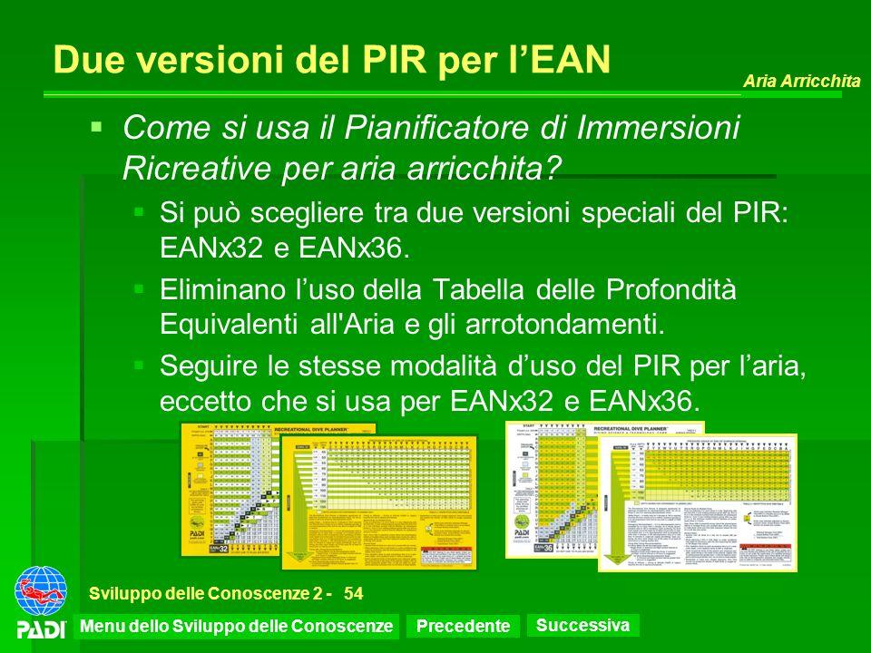 Due versioni del PIR per l'EAN