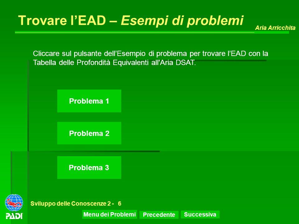 Trovare l'EAD – Esempi di problemi