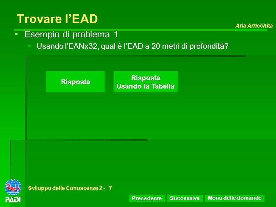 Trovare l'EAD Esempio di problema 1