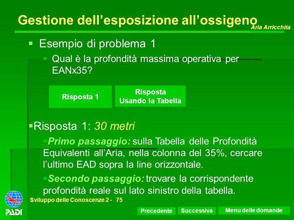 Gestione dell'esposizione all'ossigeno