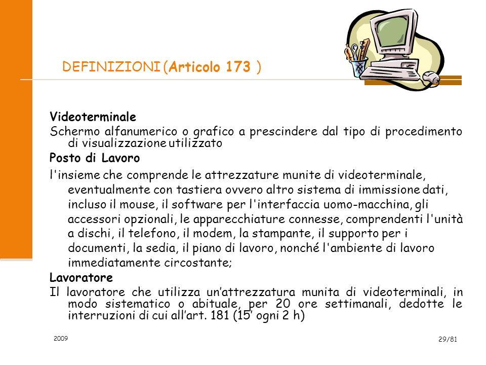 DEFINIZIONI (Articolo 173 )