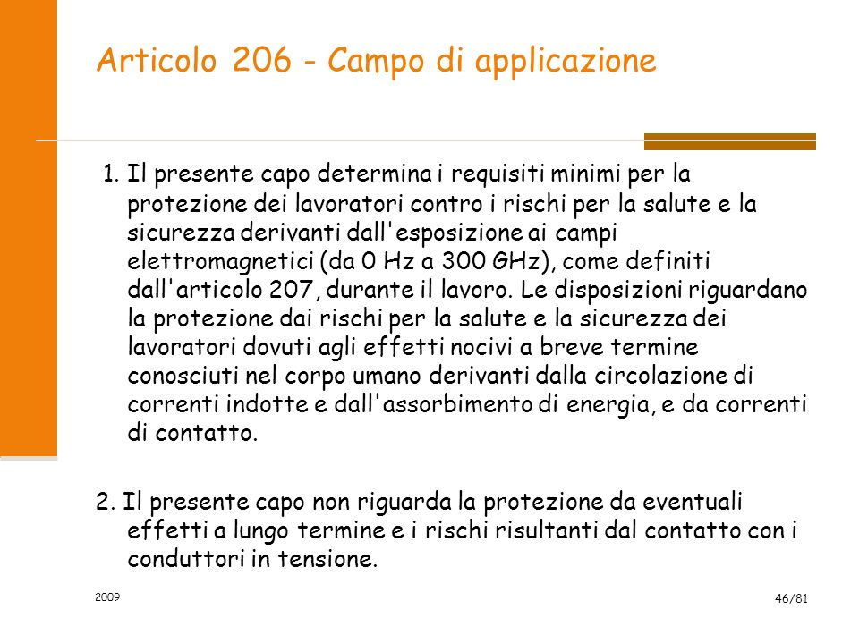 Articolo 206 - Campo di applicazione