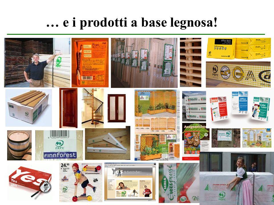 … e i prodotti a base legnosa!