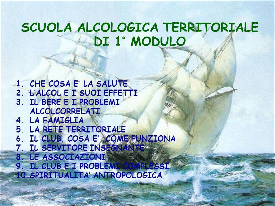 SCUOLA ALCOLOGICA TERRITORIALE DI 1° MODULO