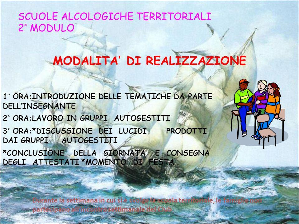 MODALITA' DI REALIZZAZIONE
