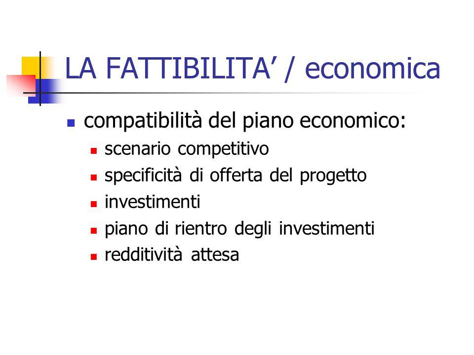 LA FATTIBILITA' / economica