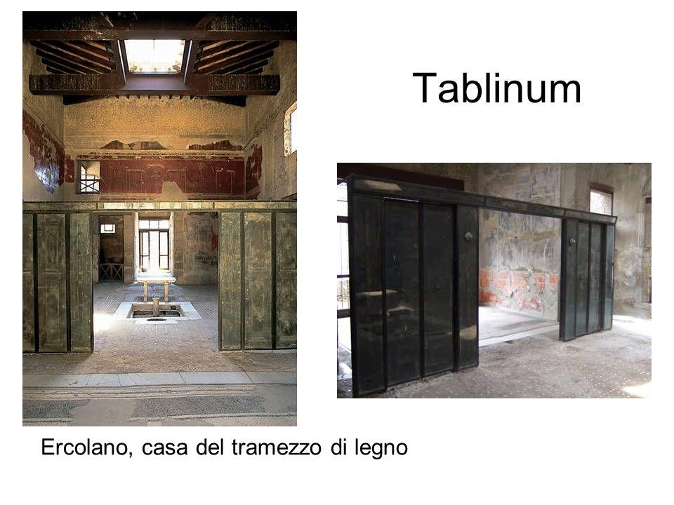 Tablinum Ercolano, casa del tramezzo di legno