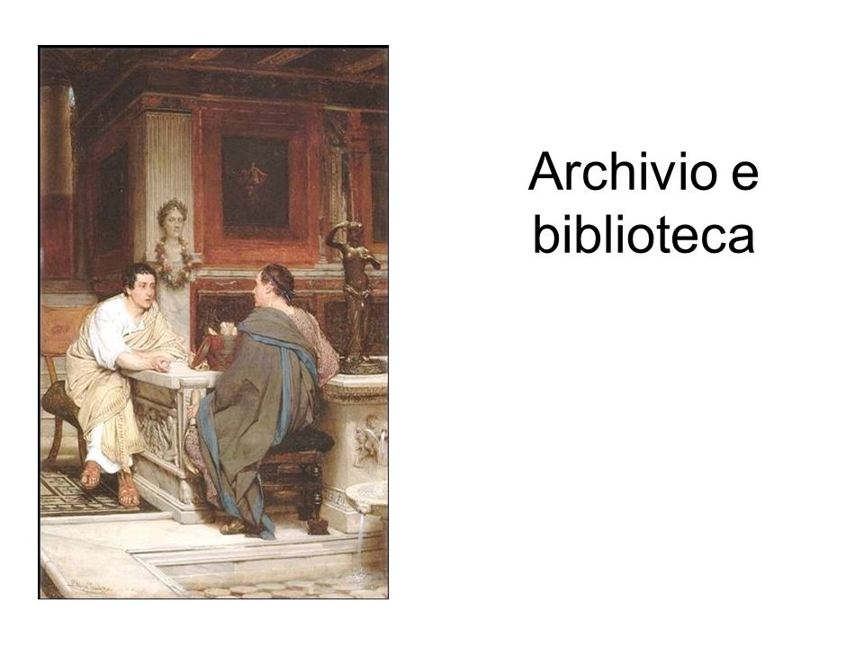 Archivio e biblioteca