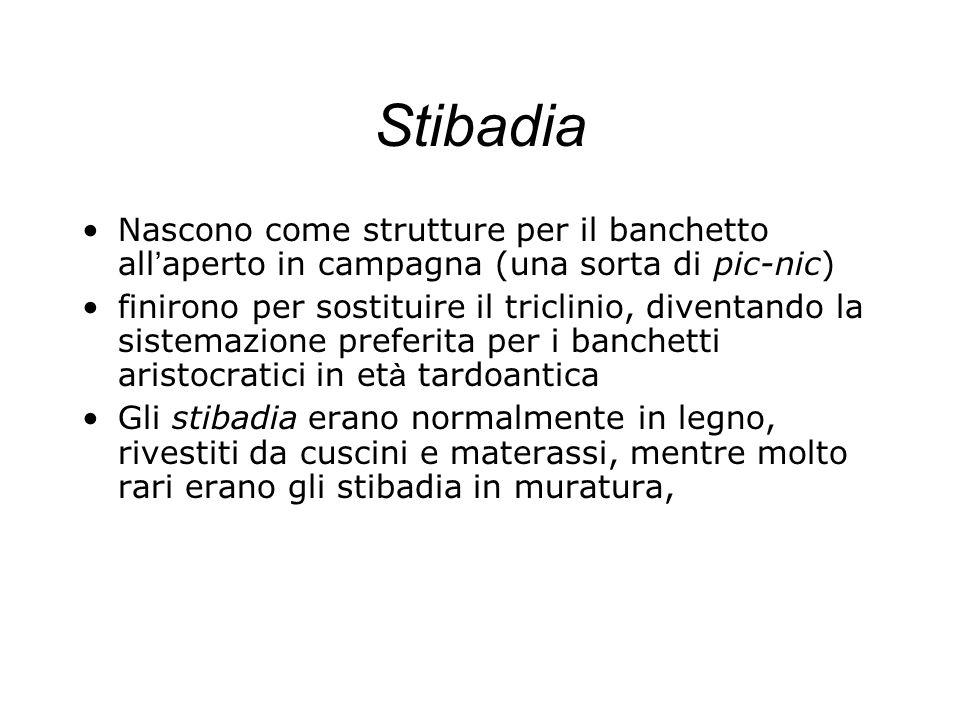 Stibadia Nascono come strutture per il banchetto all'aperto in campagna (una sorta di pic-nic)