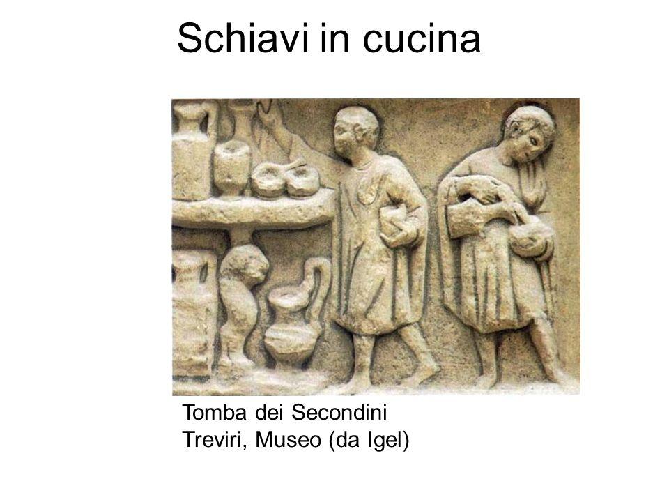 Schiavi in cucina Tomba dei Secondini Treviri, Museo (da Igel)