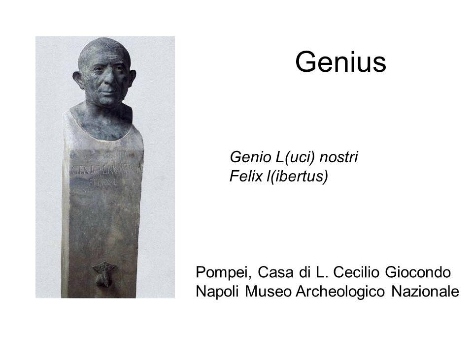 Genius Genio L(uci) nostri Felix l(ibertus)