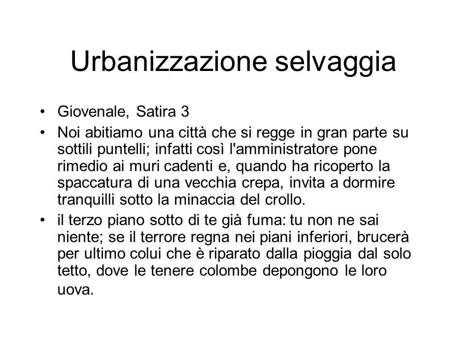 Urbanizzazione selvaggia