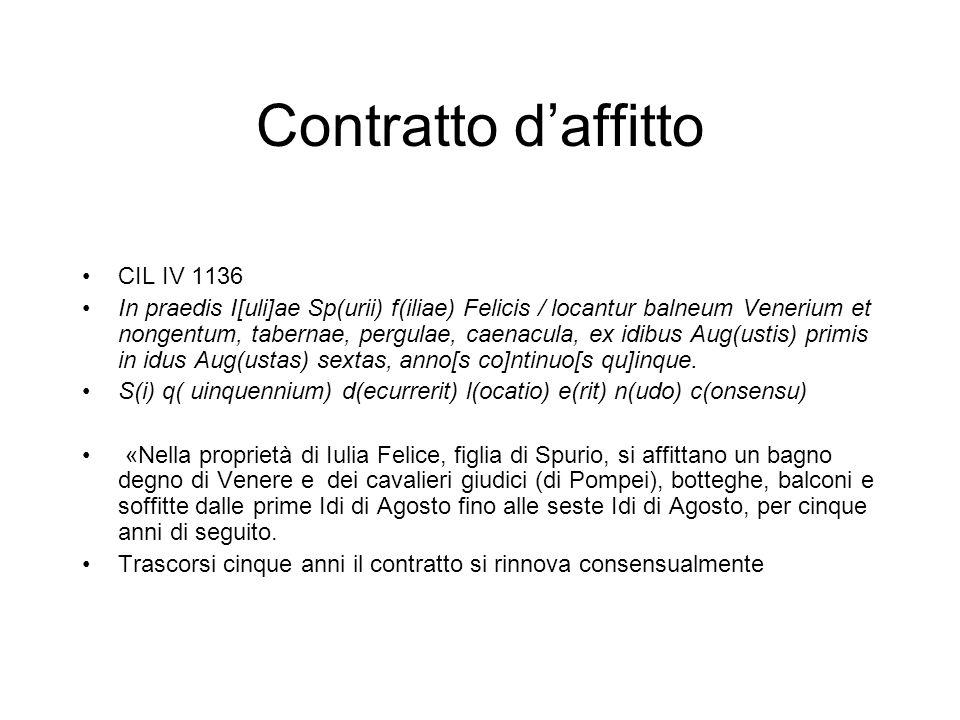 Contratto d'affitto CIL IV 1136