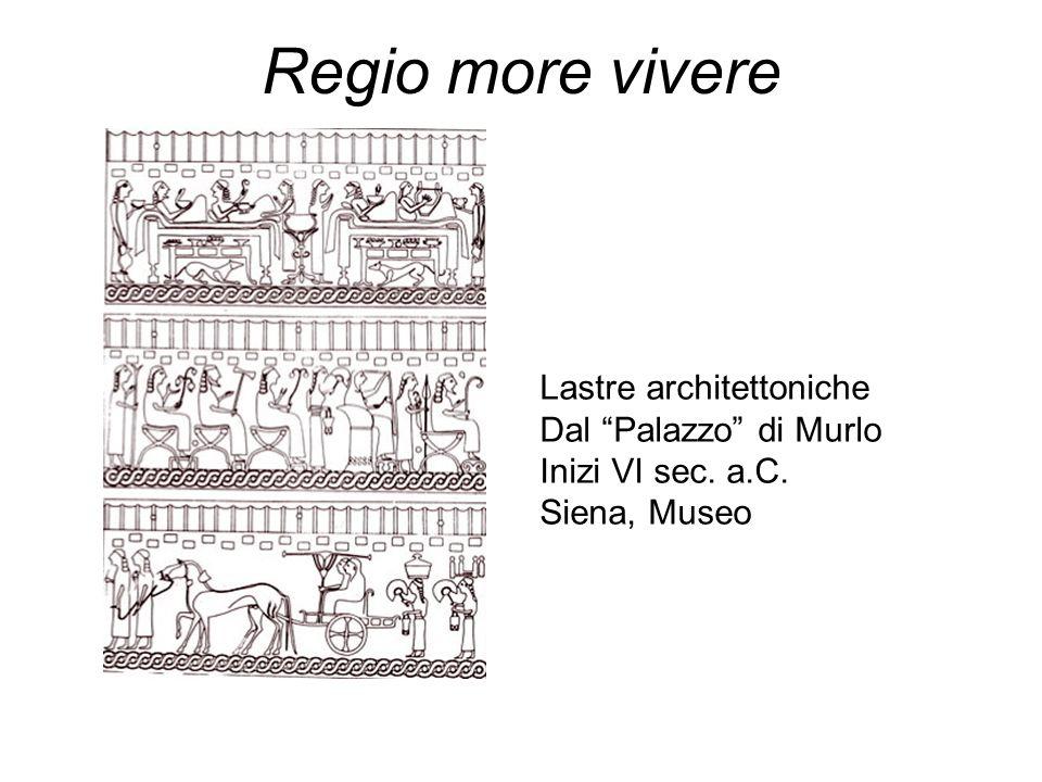 Regio more vivere Lastre architettoniche Dal Palazzo di Murlo