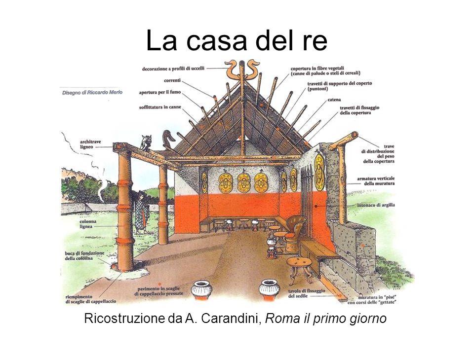 La casa del re Ricostruzione da A. Carandini, Roma il primo giorno